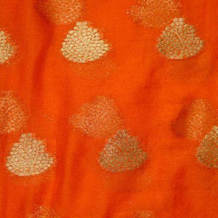 pattern chiffon fabric buy orange and golden tree pattern chiffon fabric 4347