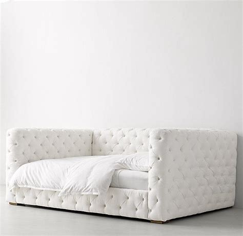 button tufted white daybed
