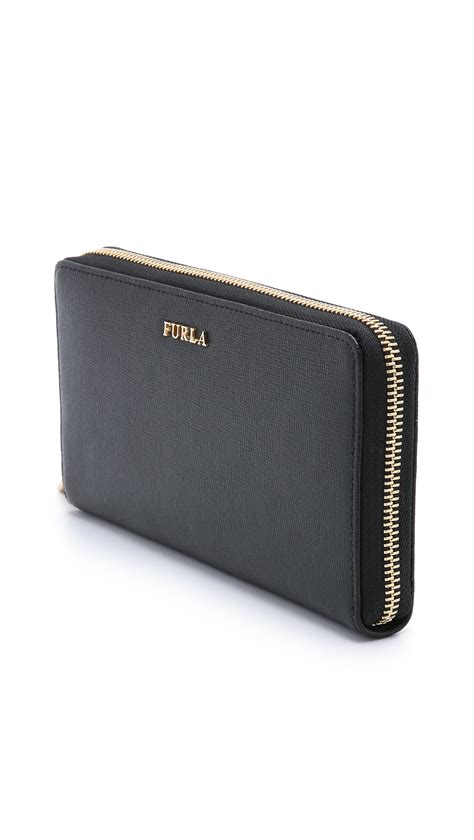 Furla Club Wallet furla babylon xl zip around wallet onyx in black lyst