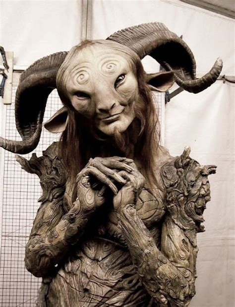 the labyrinth mythical beasts 1910552615 doug in the faun costume during the filming of pan s labyrinth spanish el laberinto