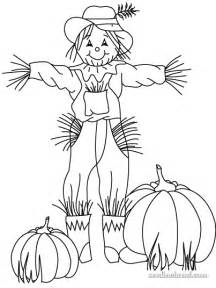 free hand embroidery pattern fall scarecrow pumpkins needlenthread