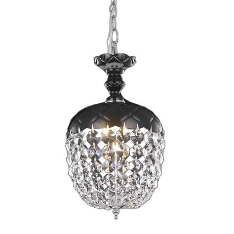 Mini Chandelier Pendant Lights Rococo Collection 1 Light 13 Quot Jet Black Mini Pendant Chandelier With 7801d8b Rc