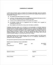 confidentiality template 12 data confidentiality agreement templates free sle