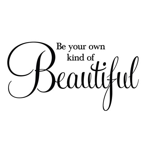 A Of Your Own be your own of beautiful vinyl wall decal