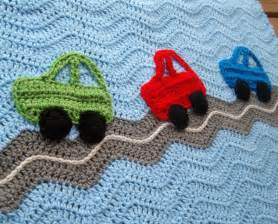car baby boy blanket crochet blanket ripple afghan by puddintoes