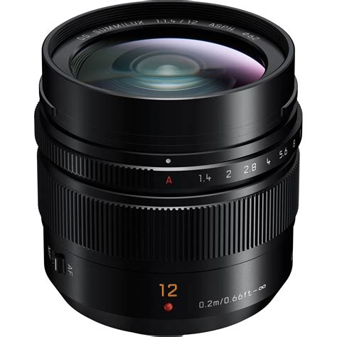 panasonic lens panasonic leica dg summilux 12mm f 1 4 asph lens h x012 b h