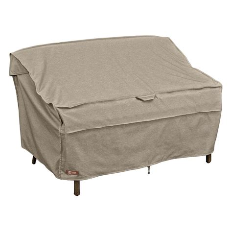 outdoor loveseat covers duck covers ultimate 54 in w patio loveseat cover