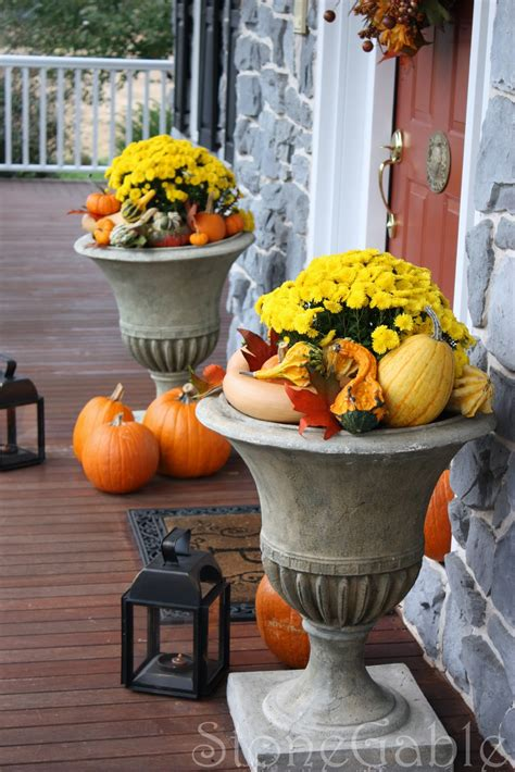 fall decorating ideas for outside outdoor fall decor stonegable