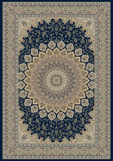 Ancient Rugs by Ancient Garden 57090 3484 Navy Area Rug By Dynamic Rugs