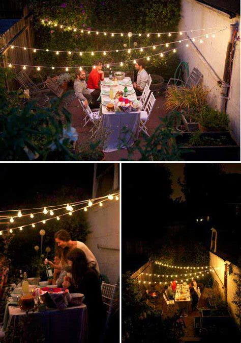 24 Jaw Dropping Beautiful Yard And Patio String Lighting Patio String Light Ideas