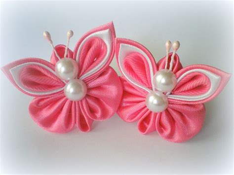 How To Make Handmade Hair Bands - 235 best images about kanzashi butterfly on