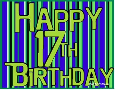 Happy Birthday Wishes To Dear One 50 17th Birthday Wishes