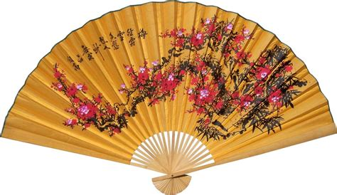 oriental fans wall decor chinese wall fans lucky blossoms china underground
