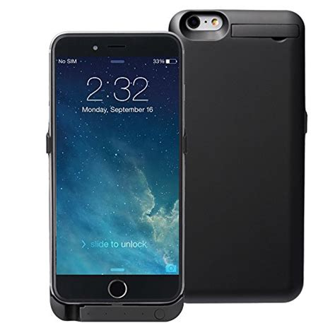 Iphone 6 6s Power Battery 7000mah Back Cover Casing Sarung Bumper awortek battery backside cover 7000mah rechargeable