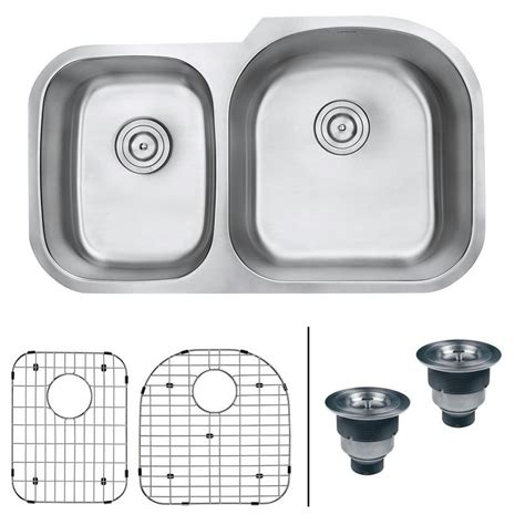 34 stainless steel kitchen sink ruvati undermount stainless steel 34 in 16 40 60