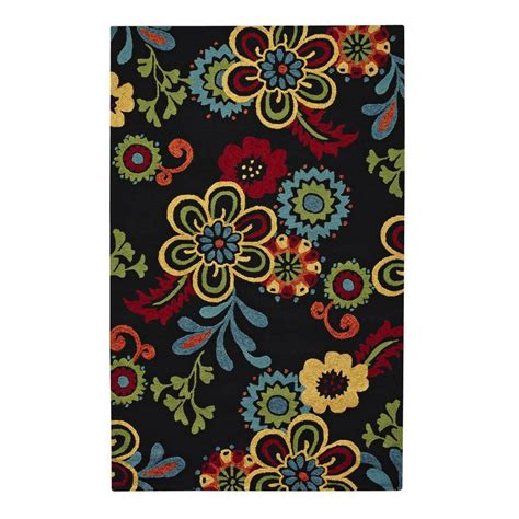 home accent rug collection home decorators collection tilly black 2 ft x 3 ft
