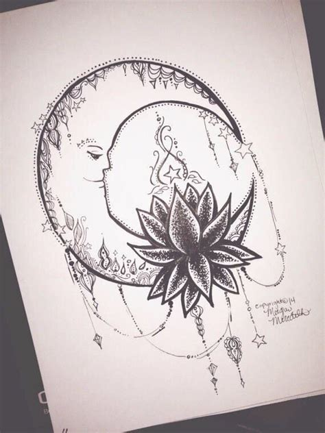 lotus tattoo and piercing moon and lotus tattoo and piercing ideas pinterest