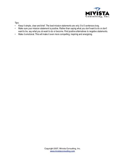 Outline Of A Personal Mission Statement by Quot How To Write Your Personal Mission Statement Quot By Villalob