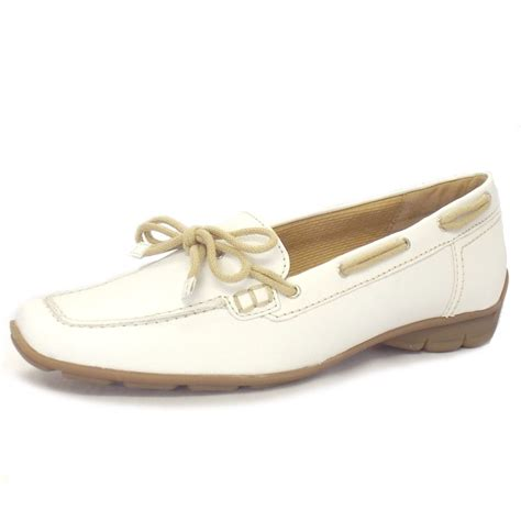 white loafers womens gabor shoes obern loafers in white leather mozimo