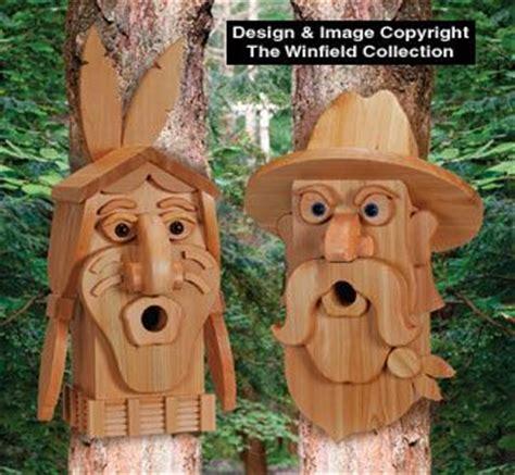 cedar cowboy indian birdhouse plans uniquely shaped