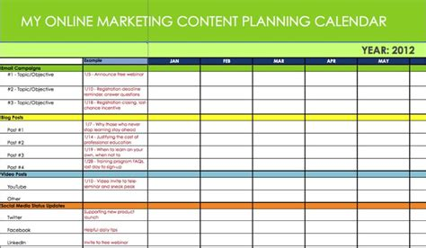 marketing caign planning template 1000 images about editorial content calendar templates on