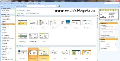 buat kartu nama sendiri online umardi publisher buat kartu nama sendiri