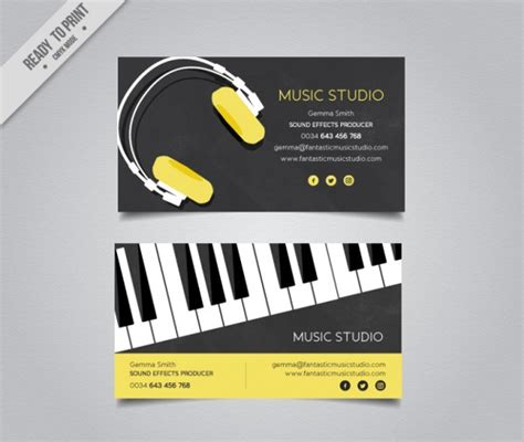 producer business card template 25 dj business card templates free premium