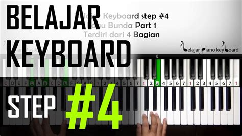 tutorial keyboard lagu rindu belajar keyboard 4 tutorial lagu bunda part 1 pemula