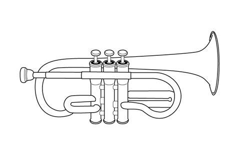 Coloriage Trompette Momes Net S Coloriage AlphabetL