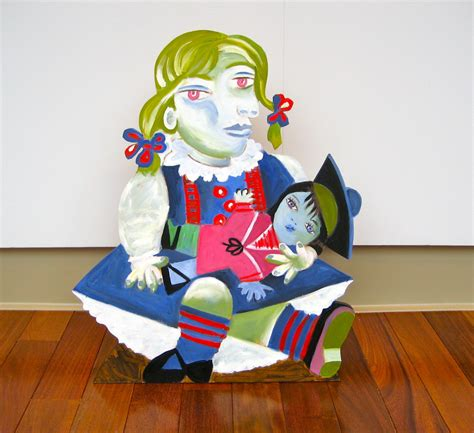 picasso paintings with doll wood quot after picasso with a doll quot original by
