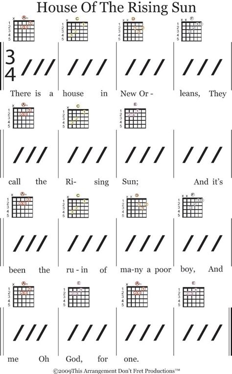 strumming pattern to house of the rising sun 25 best ideas about guitar chords songs on pinterest