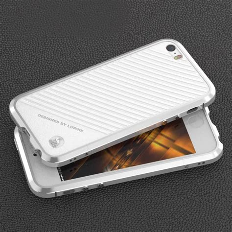 Iphone 5 5s Se Casing Cover Bumper Backcase Kuat Pc for iphone se 5 5s luxury luphie aluminum metal bumper leather back cover ebay