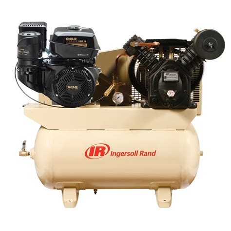 gas drive air compressor 14hp kohler engine ingersoll rand compressors 2475f