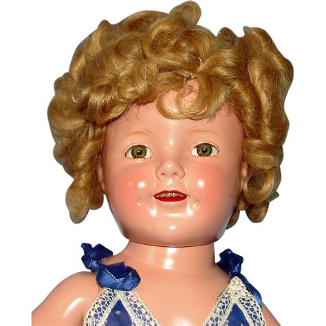 composition shirley temple doll 1935 composition shirley temple doll in tagged mint
