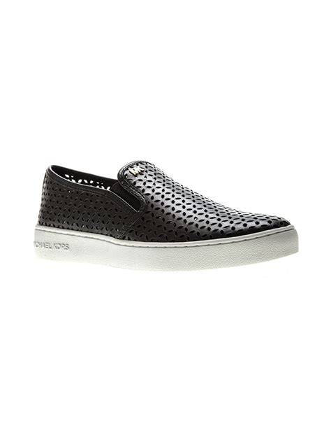 black michael kors sneakers michael michael kors perforated slip on sneakers