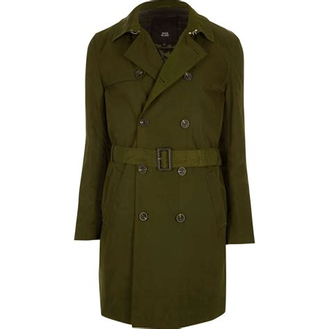 green belted breasted trench coat coats