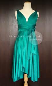 Infinity Bridesmaid Dress Teal Green Bridesmaid Convertible Dress Infinity By