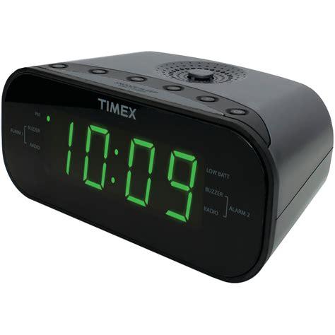 timex t231gy2 am fm dual alarm clock radio with digital tuning gunmetal gray