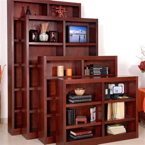 wide bookshelves concepts in wood wide wood veneer bookcase