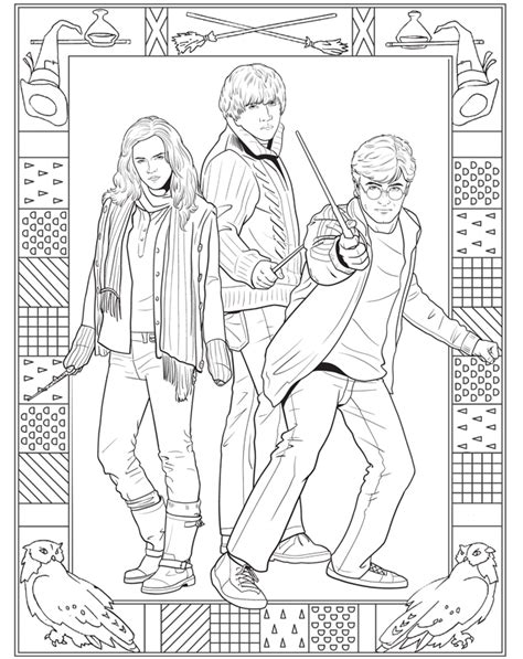 harry potter coloring book pictures harry potter coloring pages all characters gianfreda net
