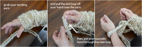 how to knit a blanket step by step arm knitting tutorial how to arm knit a blanket