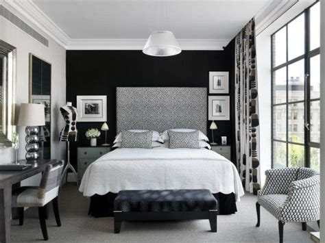 inspirasi dekorasi kamar tidur nuansa hitam putih