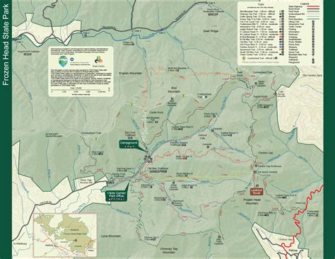 park trail map frozen state park tennessee state parks