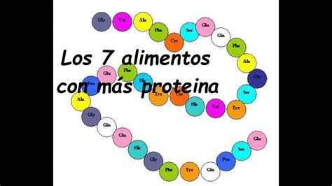 los  alimentos  mas proteinas youtube