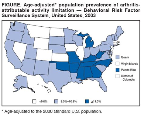 behavioral risk factor surveillance system brfss cdc state prevalence of self reported doctor diagnosed