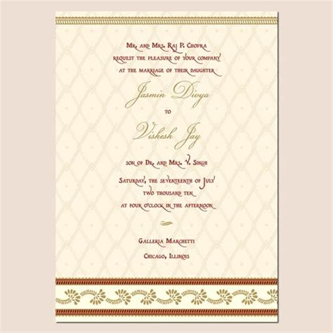 Wedding Invitations Hindu by Wedding Invitation Wording Wedding Invitation Templates Hindu