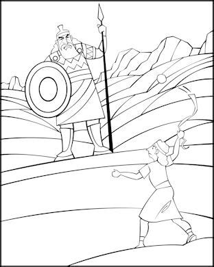 preschool coloring pages david and goliath sunday school coloring page david and goliath