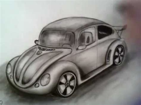 old volkswagen drawing volkswagen old beetle charcoal time lapse drawing youtube