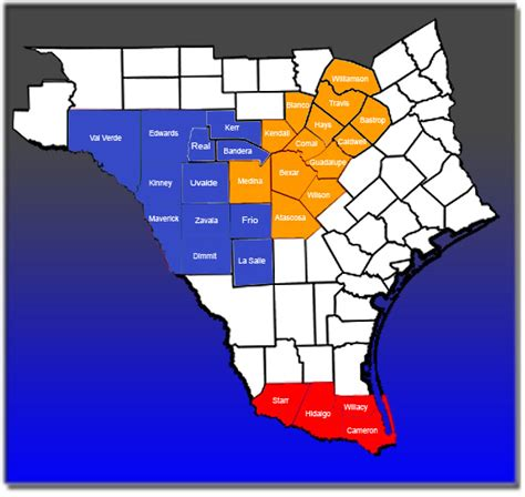 south texas counties map superior home health services coverage map