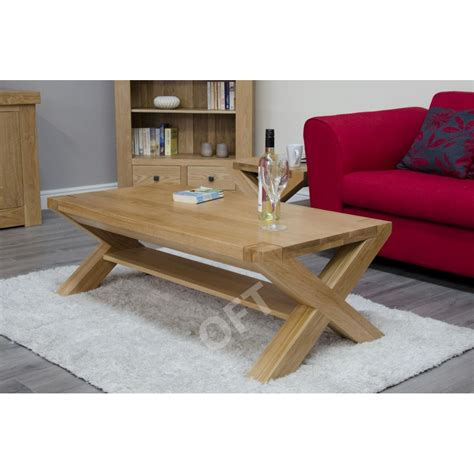 Unfinished Furniture Michigan by Michigan Solid Oak Furniture Large Cross Leg Coffee Table